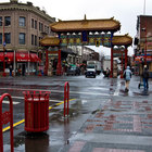 Gateway to Victoria Chinatown on a rainy day. Image credit Jeannette Hall/@shutterjh on Flickr.